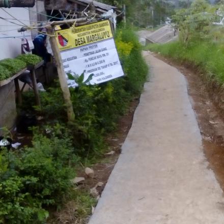 Dokumentasi Pembangnan Desa Margaluyu T.a 2017