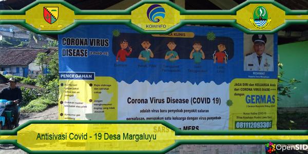 Sterilsasi Desa Margaluyu Menghadang Covid-19
